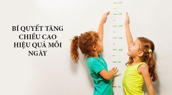 Chế độ ăn giúp trẻ phát triển chiều cao toàn diện