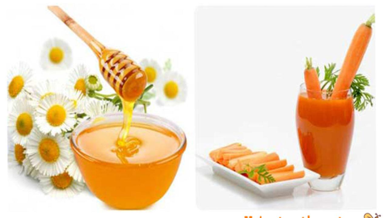 mật ong và cà rốt